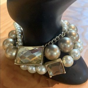 Lia Sophia 3 strand elastic pearl bracelets